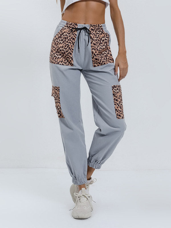 Leopard stitching Pants