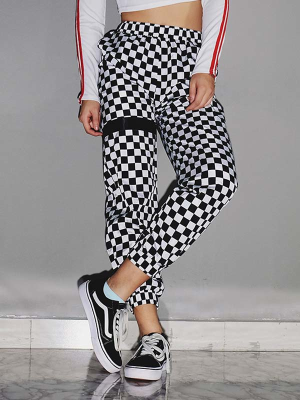 Lattices printing Jogger Pants