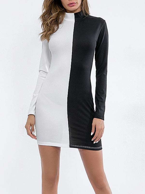 Splicing Bodycon Dress