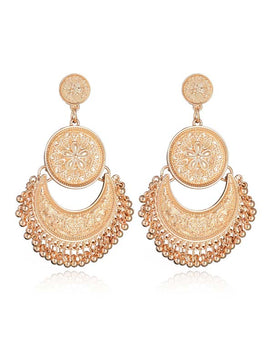 Tassel Half Round Drop Earrings