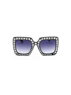 Faux Pearl Decor Sunglasses