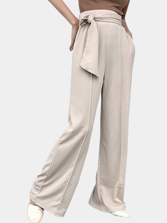 Relaxed Tricot Wide Leg Pants