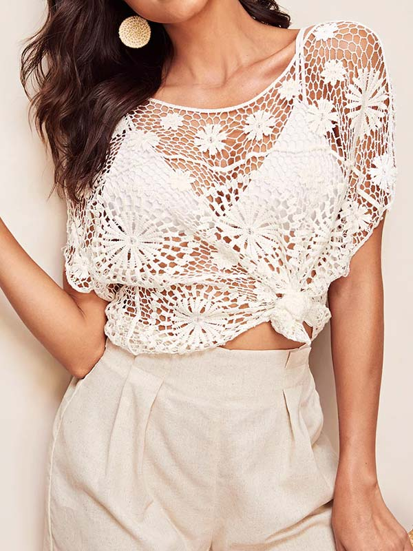 Hook Flower Hollow Vacation Top