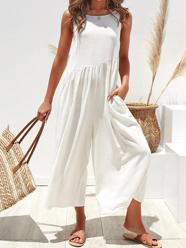 Sleeveless Vest Jumpsuit