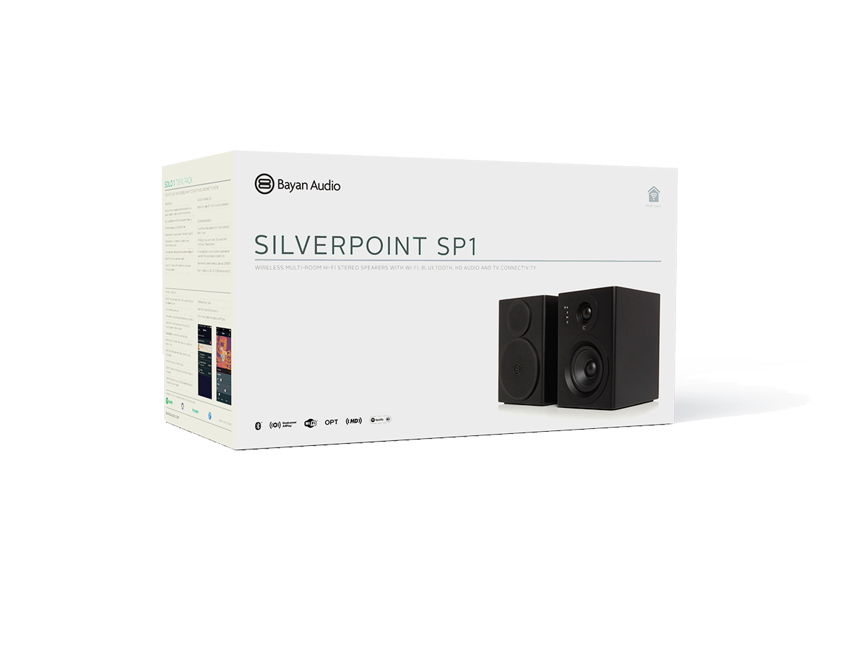 Silverpoint SP1 speaker packaging