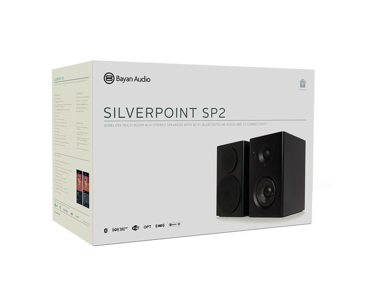 Silverpoint SP2 speaker packaging