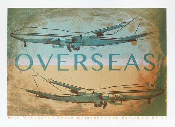 Overseas Limited Edition Screen Printed Show Poster