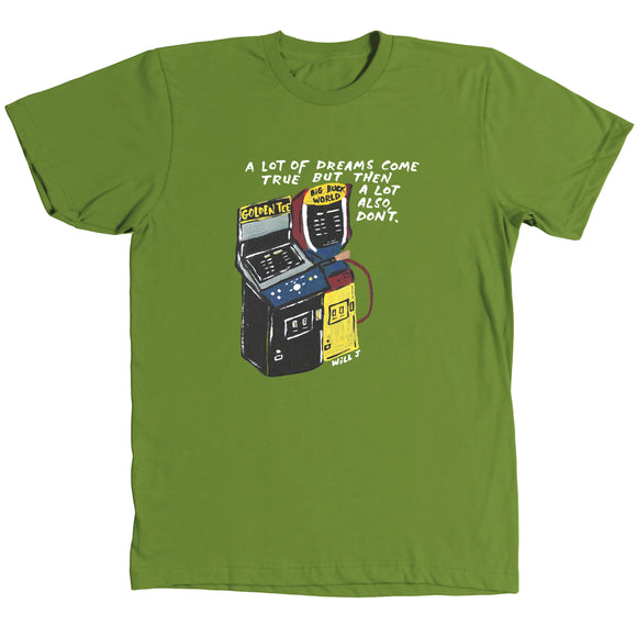 Dreams Come True Shirt - Olive Green