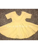 Lt. Yellow Twirl Dress