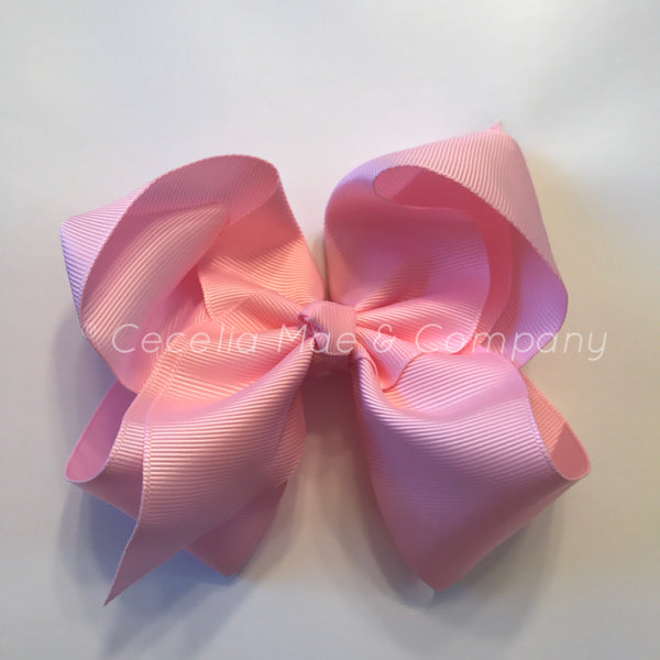 "6"" Bow Light Pink"