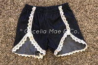 Denim & Lace Shorts