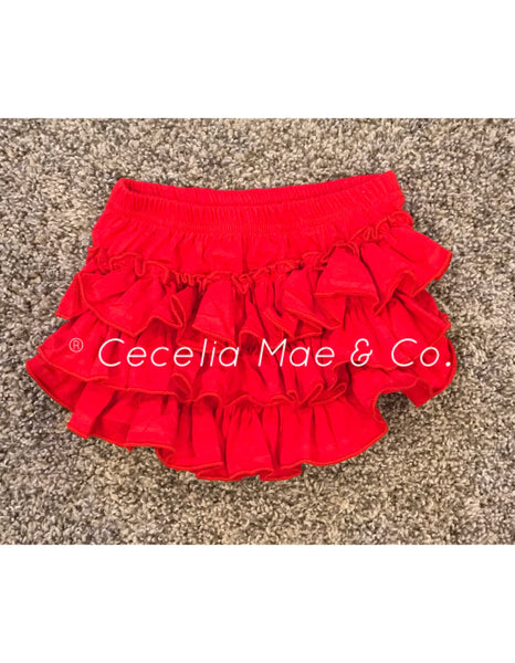 Red Ruffle Bloomers