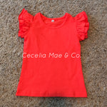 Flutter Tee - Bright Coral