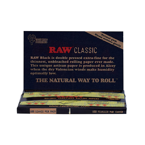 CLASSIC BLACK ROLLING PAPERS-SINGLE WIDE
