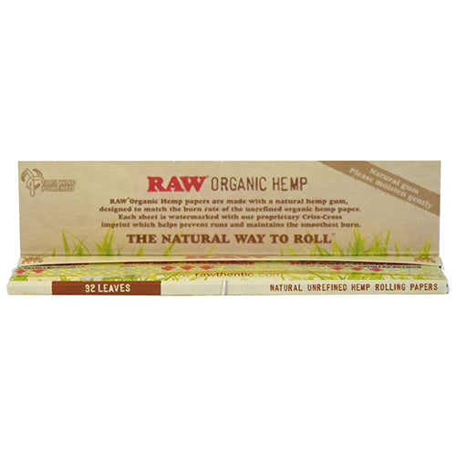 ORGANIC HEMP ROLLING PAPERS - KING SIZE
