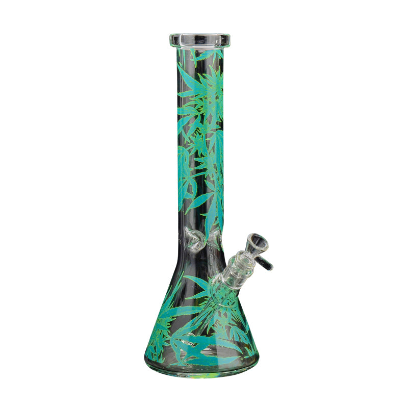 GREEN LEAF DECAL BEAKER 15""