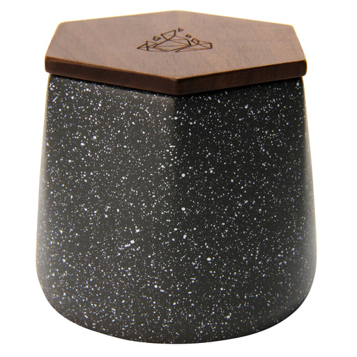 MALUA CONCRETE STORAGE JAR W/ WALNUT LID