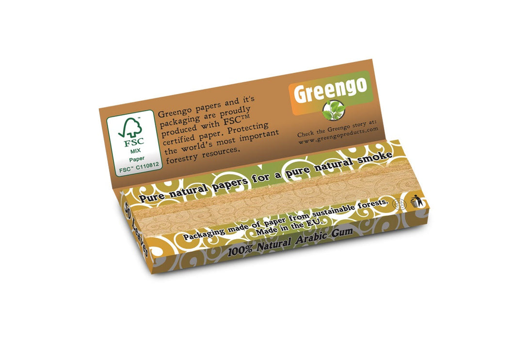 UNBLEACHED 1 1/4-SIZE ROLLING PAPER