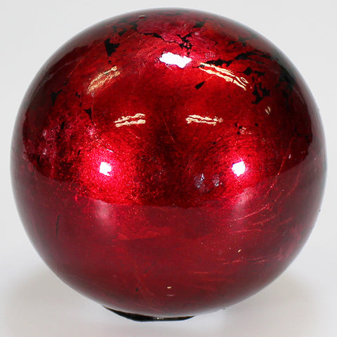 8cm Metallic Mottle Ball - Red
