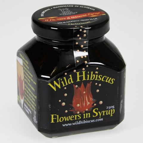 Wild Hibiscus Champagne Flowers in Syrup