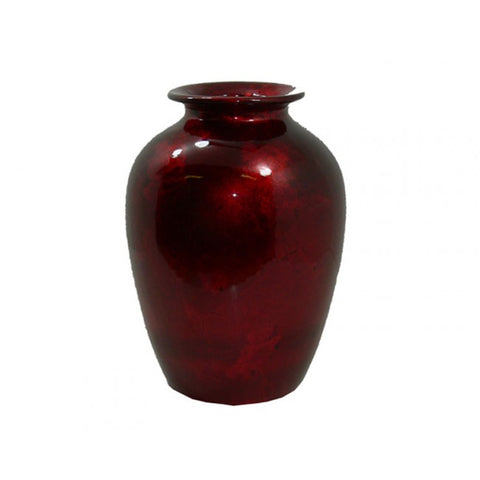 Metallic Mottle Urn Shaped Vase - Red