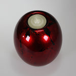 Red Mottle Candle Holder