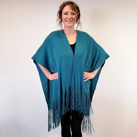 Peacock Wrap - Turquoise
