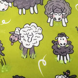 Eco Lunch Bag - Green Sheep - 100% Recycled Material