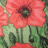 Eco Lunch Bag - Green Poppies - 100% Recycled Material