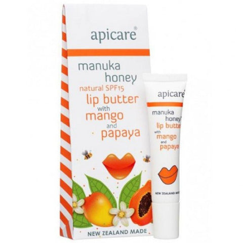 Apicare - Mango and Papaya Lip Butter - SPF15