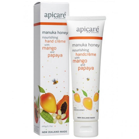 Apicare - Manuka Honey - Nourishing Hand Creme With Mango and Papaya - 90g