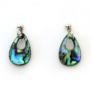 Paua Earrings - Tear-drop Design