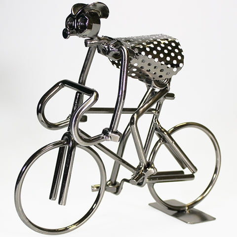 Nuts & Bolts Sculpture - Cyclist