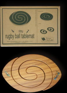 Romeyn Woodcrafts - Rugby Ball Tablemat