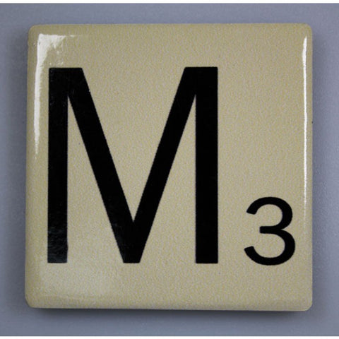 "Magnetic Scrabble Letter - ""M"""