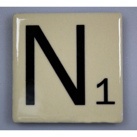"Magnetic Scrabble Letter - ""N"""