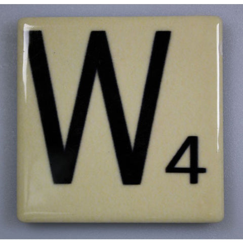 "Magnetic Scrabble Letter - ""W"""