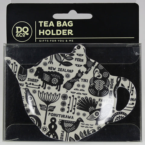Tea Bag Holder - New Zealand Icons Collage