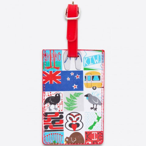 Kiwiana Tiles Luggage Tag