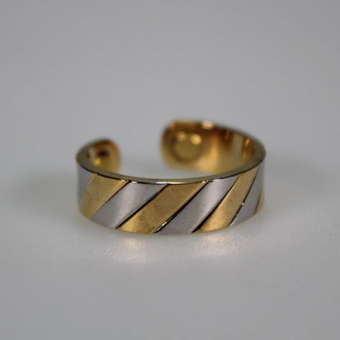 Kia Ora Gold & Silver Twist Copper Magnetic Ring