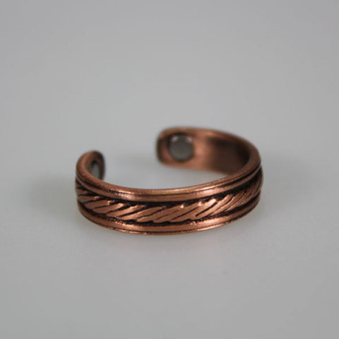 Kia Ora Rope Pattern Copper Magnetic Ring