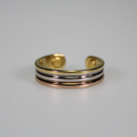Kia Ora 3 Colour Copper Magnetic Ring