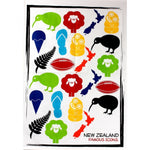 Famous NZ Icons Tea Towel