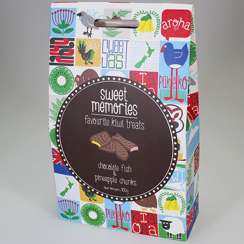 Sweet Memories - Chocolate Fish & Pineapple Chunks Lollies
