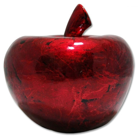 Mottle Apple Ornament - Red