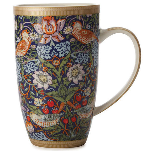 Maxwell & Williams - William Morris Coupe Mug - Strawberry Thief - Blue