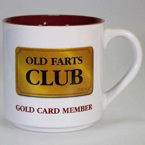 Boxed Mug - 'Old Fart's Club - Gold Card Member'