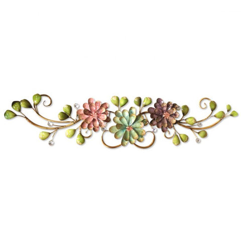 Horizontal Floral Metal Wall Art