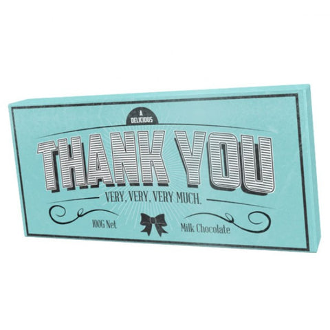 Bloomsberry & Co 'Thank You' Milk Chocolate Bar
