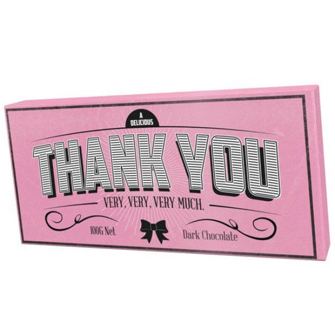 Bloomsberry & Co Thank You Dark Chocolate Bar